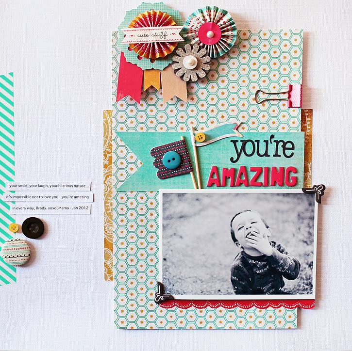 You're Amazing I BG Paper Cottage Collection I Kelly Noel