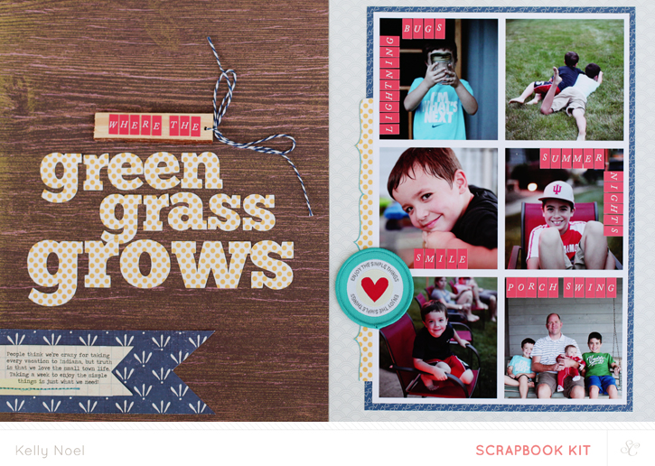 Where The Green Grass Grows - Studio Calico Bluegrass Farm Kit - Kelly Noel