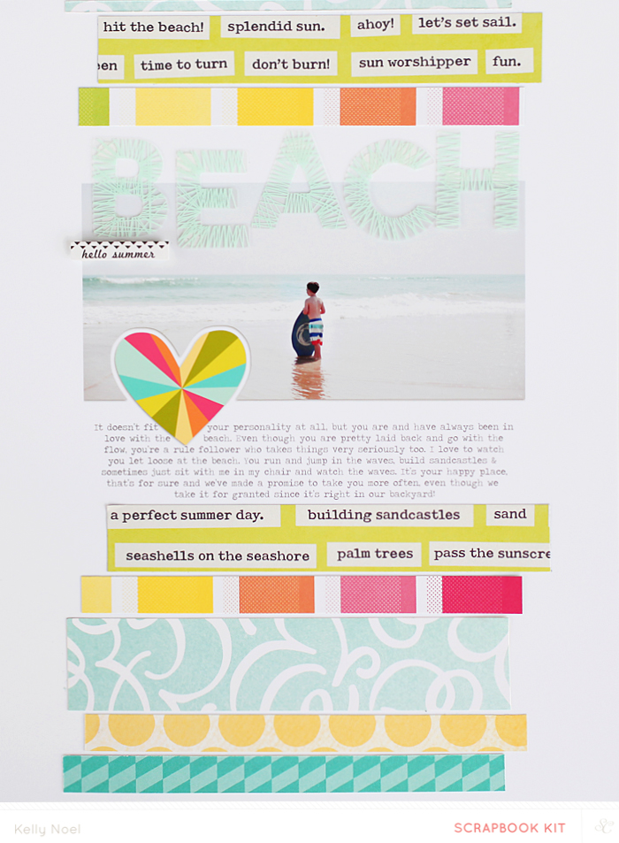 Beach - Studio Calico Hello Hello Kit - Kelly Noel