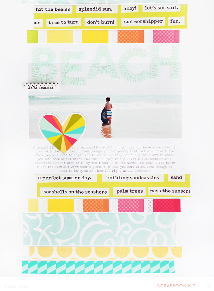 Beach2 - Studio Calico Hello Hello Kit - Kelly Noel