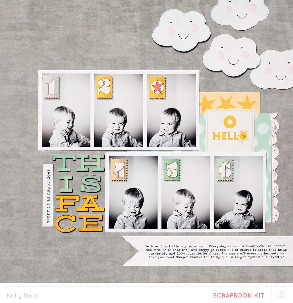 This Face - Studio Calico Penny Arcade Kit - Kelly Noel