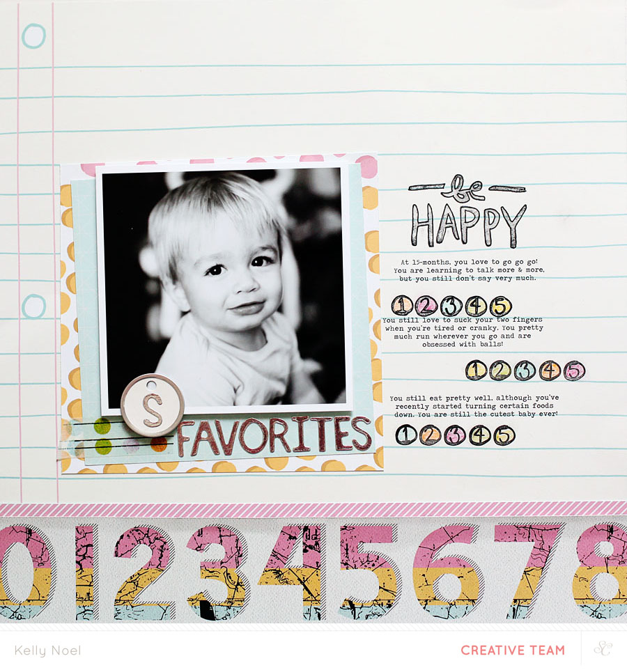Be Happy - Studio Calico Sandlot Kit - Kelly Noel