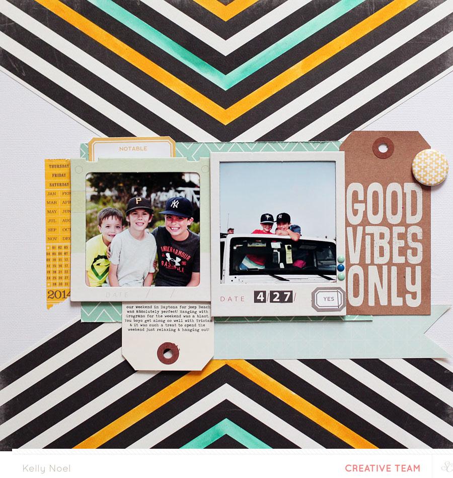 Good Vibes - Studio Calico Sandlot Kit - Kelly Noel