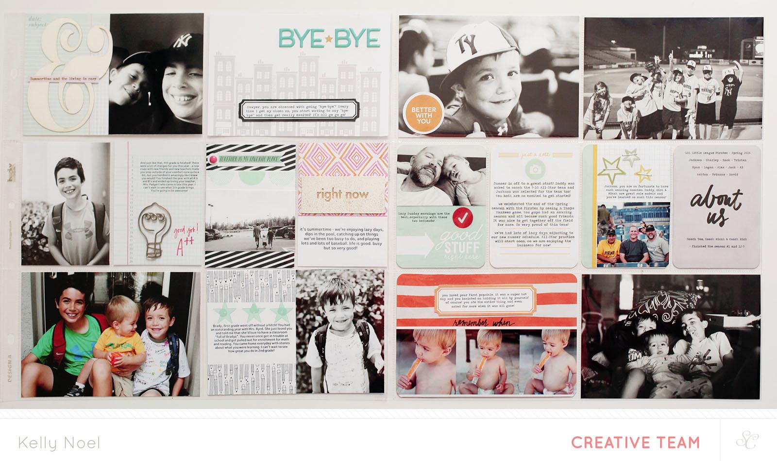 Project Life 2014 Weeks 28 & 29 - Studio Calico Sandlot Kit - Kelly Noel