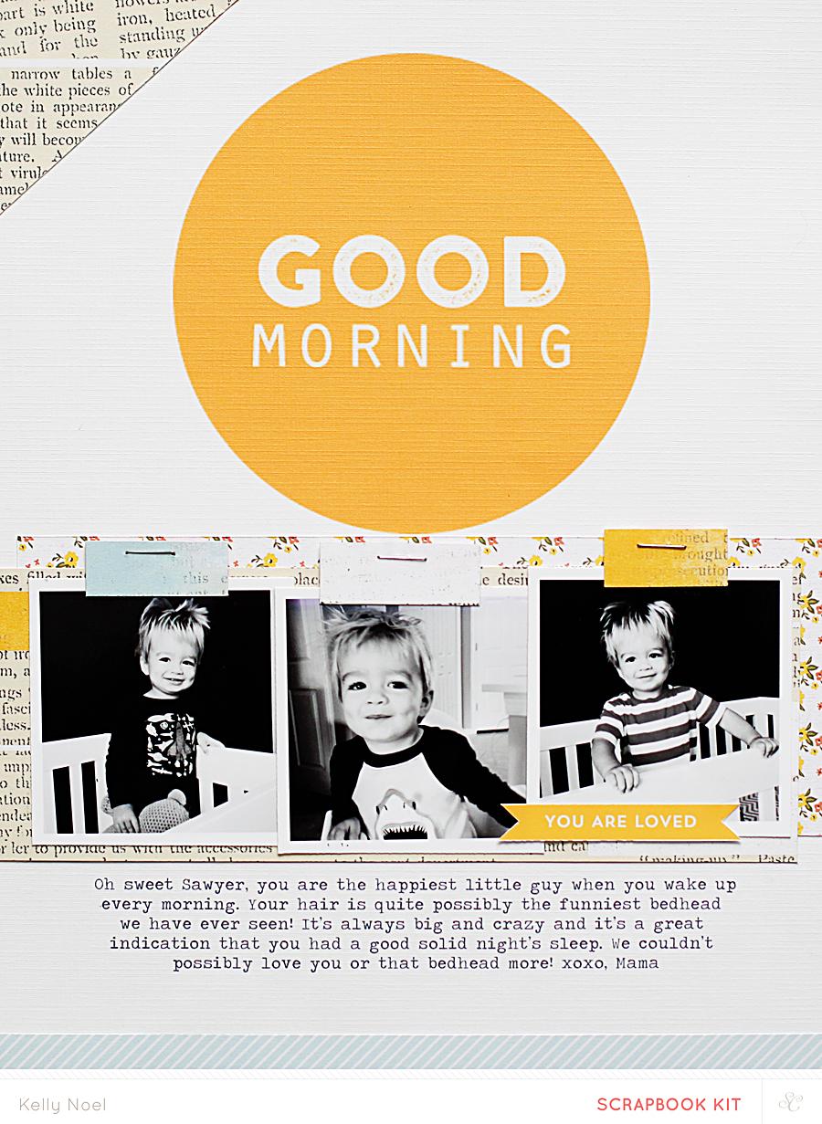 Good Morning - Kelly Noel - Studio Calico Poet Society Kit