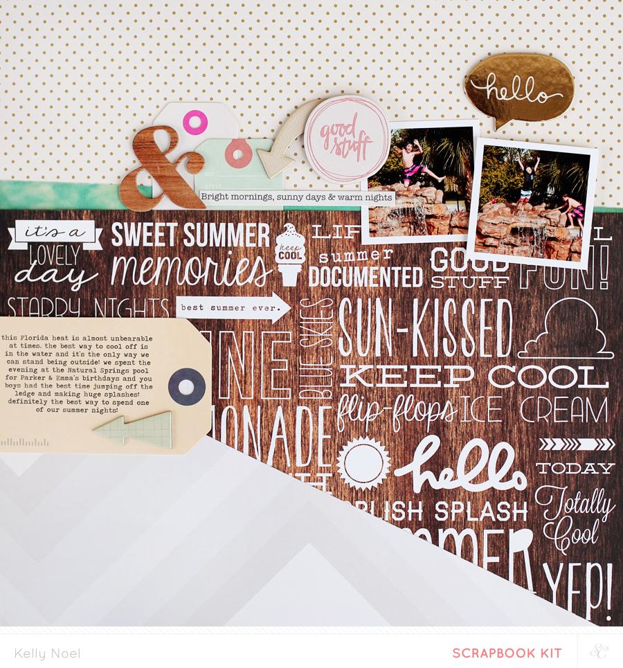 Summer Nights - Kelly Noel - Studio Calico Poet Soceity Kit