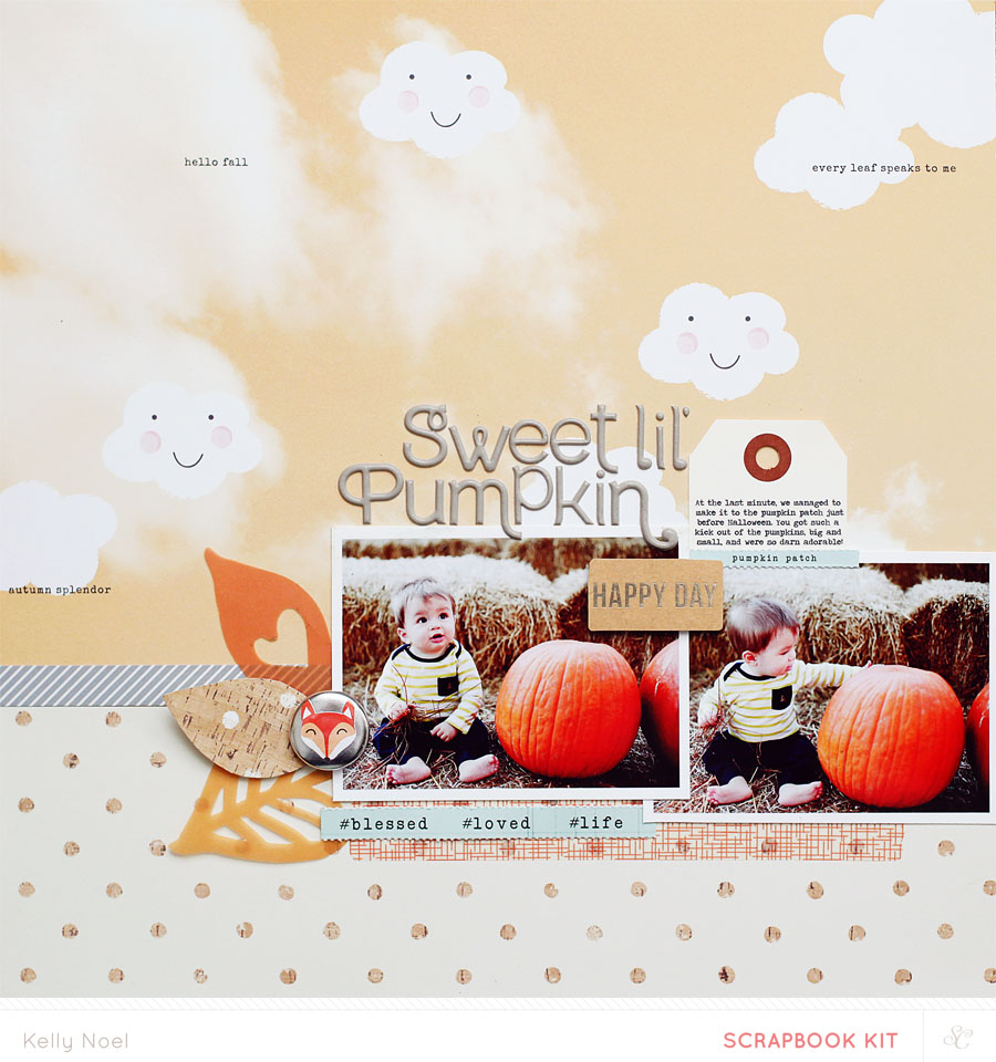 sweet pumpkin - Kelly Noel - Studio Calico Walden kits