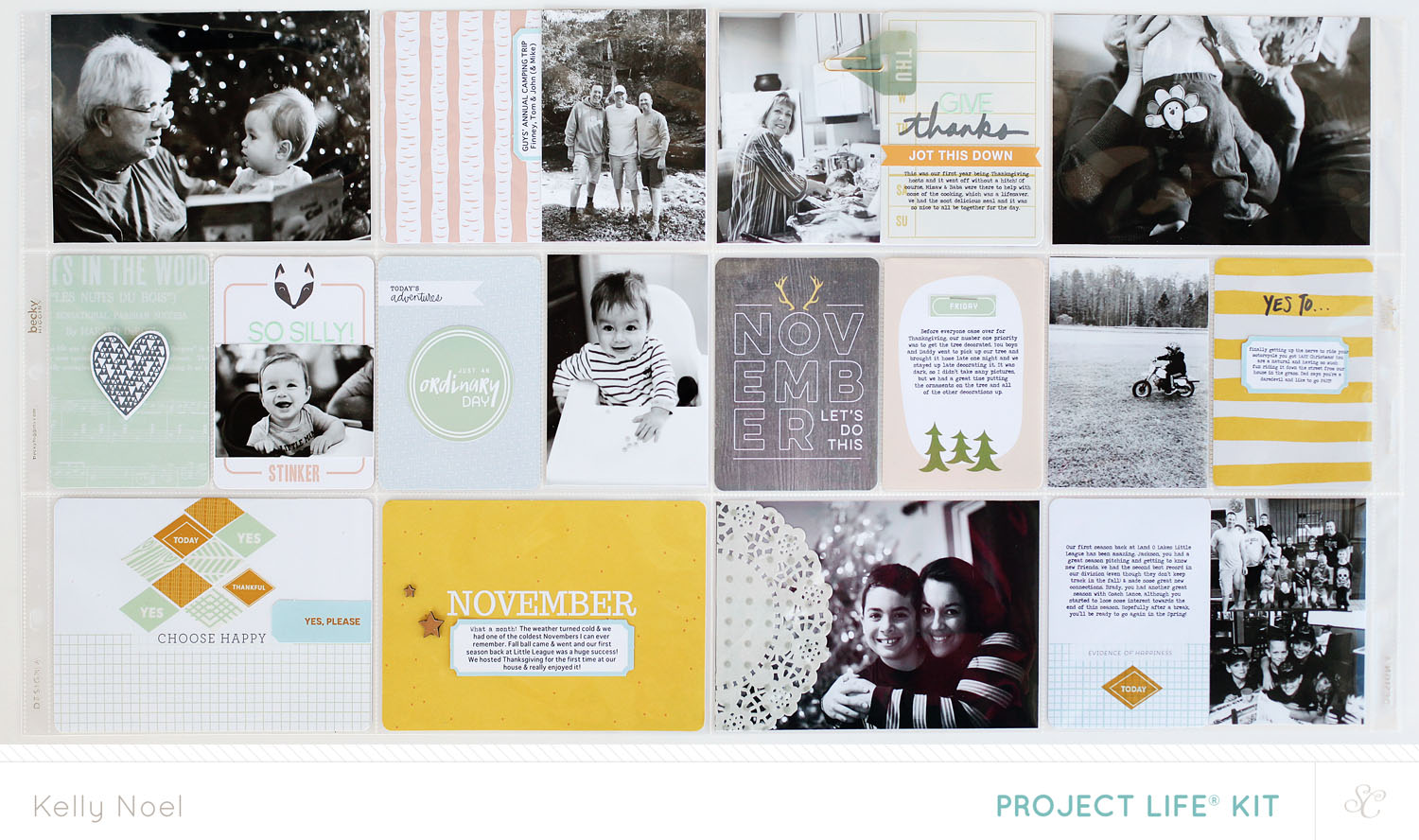 Project Life Nov 2013 - Kelly Noel - Studio Calico's Walden Kit