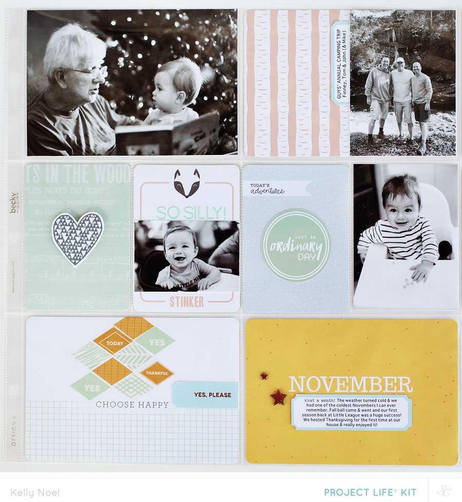Project Life Nov 2013 - Kelly Noel - Studio Calico's Walden Kits